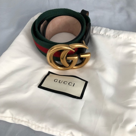 33c8eef99 Gucci Accessories - Gucci Marmont Web Belt w Double G Buckle Size 90cm